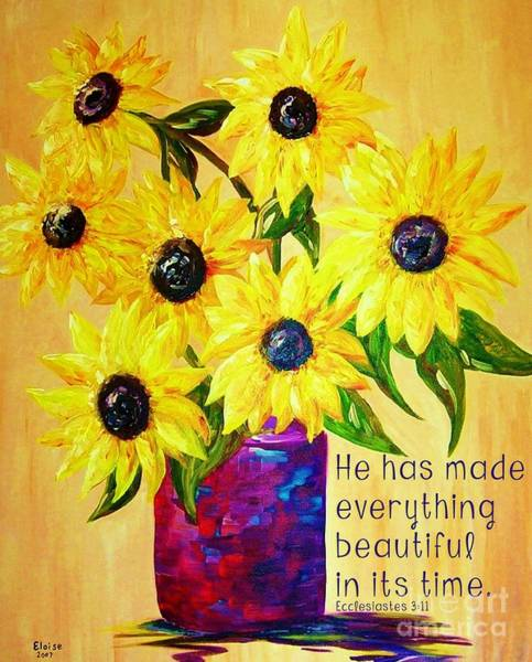 Scriptural Painting - Beautiful In Its Time by Eloise Schneider Mote