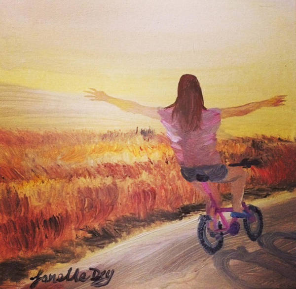 Painting - Bike  By Janelle Dey by Janelle Dey