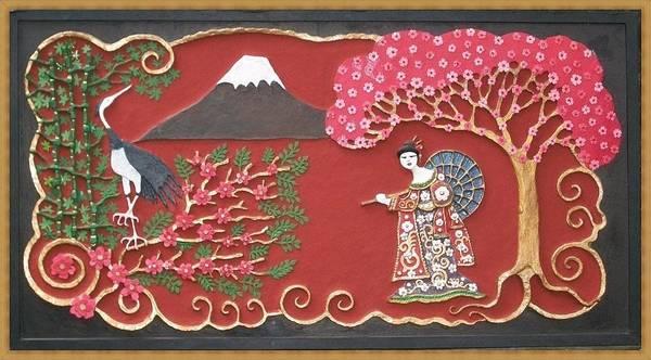 Geisha Mixed Media - Beautiful Japan by Otil Rotcod