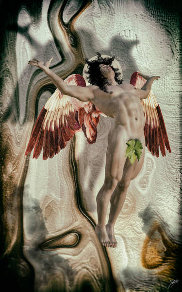 Wall Art - Digital Art - Luzbel - Lucifer Fallen Angel by Quim Abella