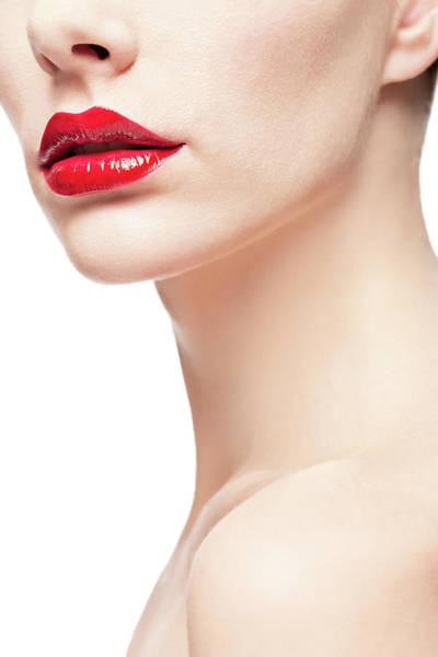 Human Face Photograph - Beautiful Lips by Ultramarinfoto