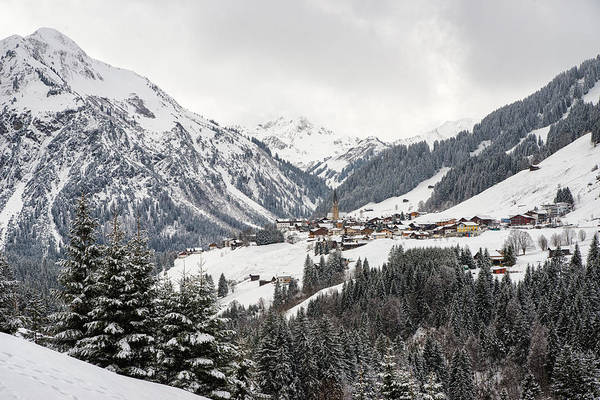 Photograph - Beautiful Little Town Mittelberg In Kleinwalsertal Austria In Winter by Matthias Hauser