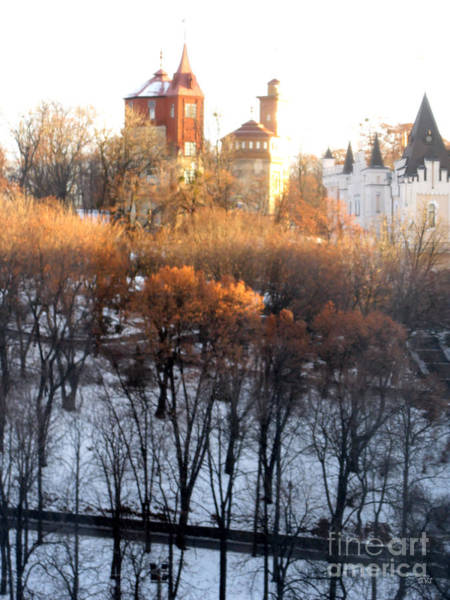 Pyrography - Beautiful Morning In Kiev by Oksana Semenchenko