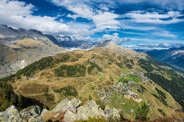 Photograph - Beautiful Mountain Landscape In The Swiss Alps Switzerland by Matthias Hauser
