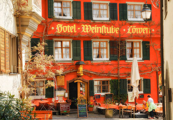 Photograph - Beautiful Old German Restaurant Facade by Matthias Hauser
