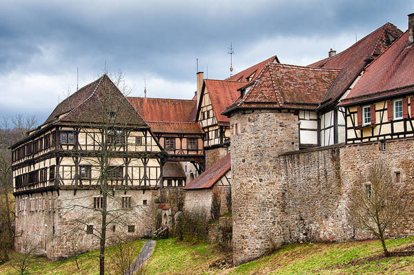 Photograph - Beautiful Old Medieval Town With City Wall And Half-timbered Houses by Matthias Hauser