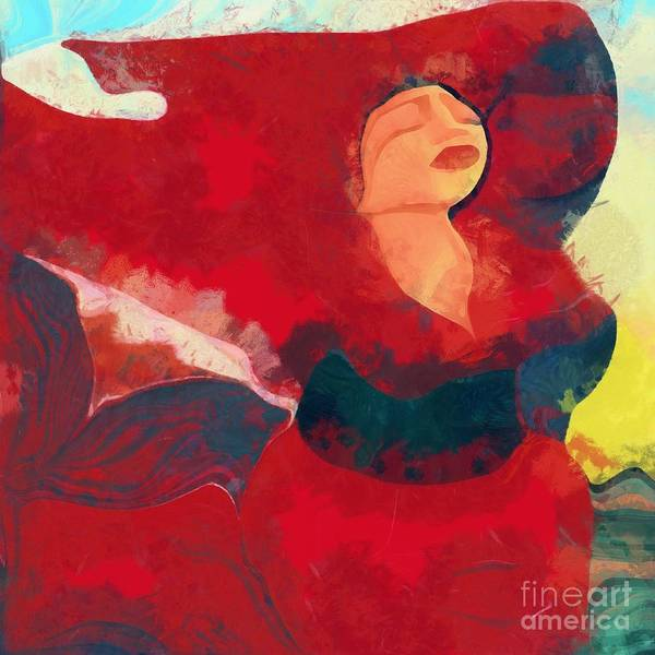 Digital Art - Beautiful Red by Catherine Lott
