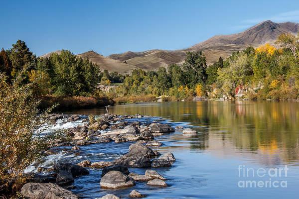 Haybale Photograph - Beautiful River by Robert Bales