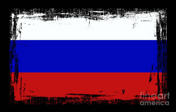 Moscow Mixed Media - Beautiful Russia Flag by Pamela Johnson
