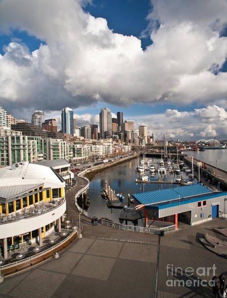 Puget Sound Photograph - Beautiful Seattle Sky by Mike Reid