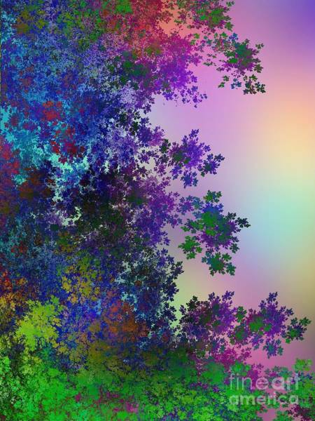 Fractal Landscape Digital Art - Beautiful Summer Morning by Klara Acel