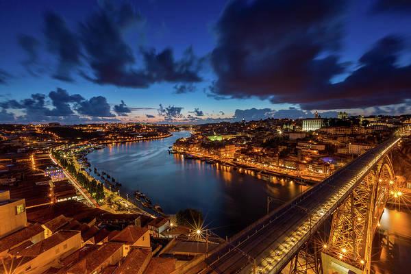Douro Wall Art - Photograph - Beautiful Summer Night In The City Of by Patrik Bergström