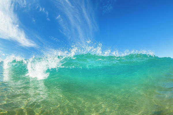 Wall Art - Photograph - Beautiful Sunny Blue Wave by Design Pics Vibe