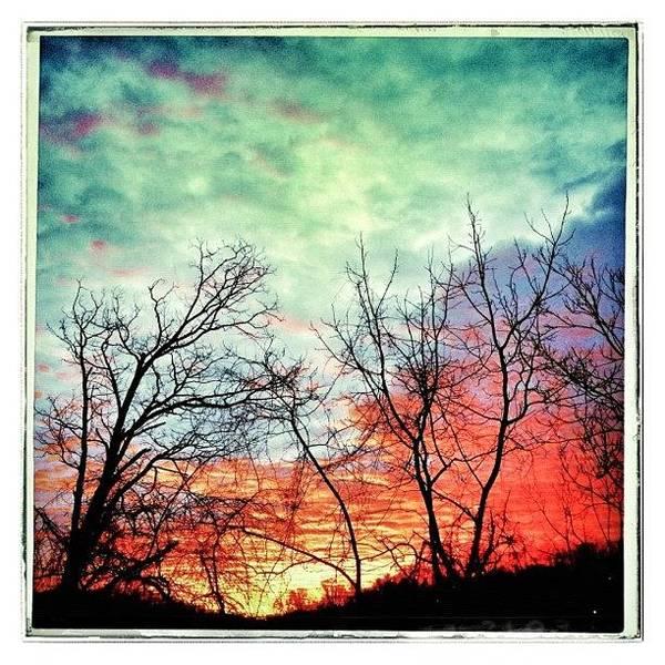 Beautiful Sunrise Wall Art - Photograph - Beautiful Sunrise On The Last Day Of by Teresa Mucha