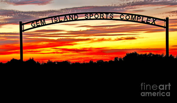 Softball Photograph - Beautiful Sunset And Emmett Sport Comples by Robert Bales