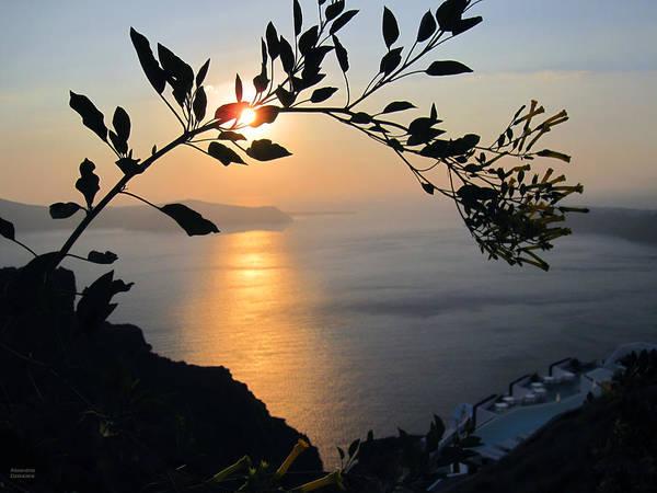 Photograph - Beautiful Sunset In Santorini by Alexandros Daskalakis