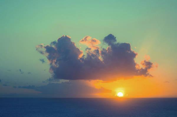Turks And Caicos Islands Wall Art - Photograph - Beautiful Sunset On Sea Horizon by Jaminwell