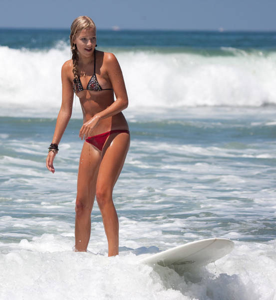 Photograph - Beautiful Surfer Girl by Nathan Rupert