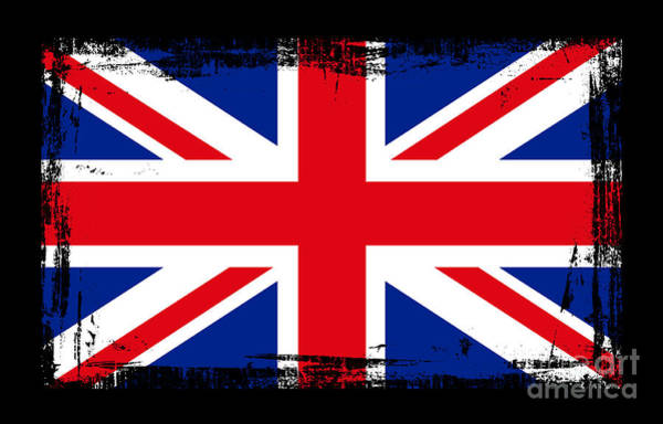 Wales Mixed Media - Beautiful United Kingdom Flag by Pamela Johnson