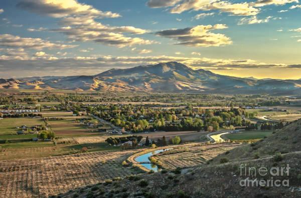 Haybale Wall Art - Photograph - Beautiful Valley by Robert Bales