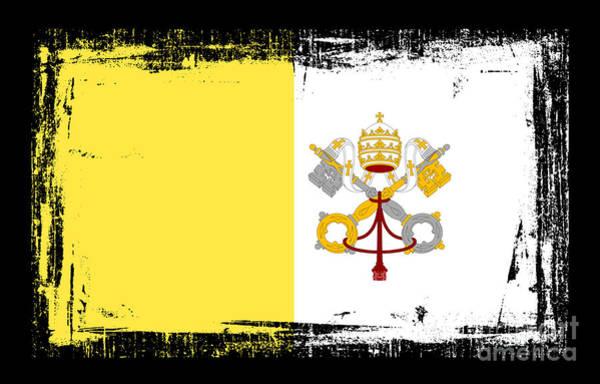Wall Art - Mixed Media - Beautiful Vatican City Flag by Pamela Johnson