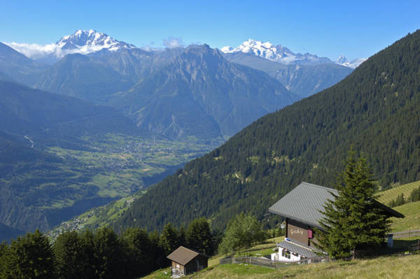 Photograph - Beautiful View From Riederalp - Swiss Alps by Matthias Hauser