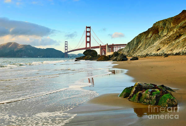 Wall Art - Photograph - Beautiful View Of The Golden Gate Bridge From Marshalls Beach. by Jamie Pham