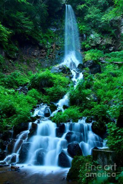 Beautiful Waterfalls In Karuizawa Japan Art Print