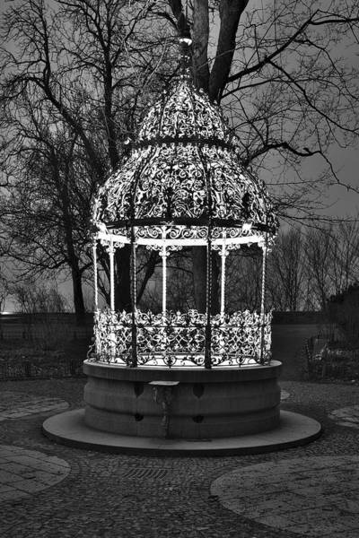 Photograph - Beautiful Well Bw by Ivan Slosar