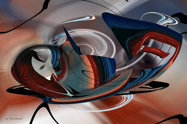 Digital Art - Beautiful Whimsey by rd Erickson