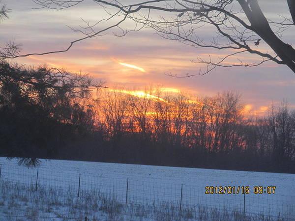 Wall Art - Photograph - Beautiful Winter Sunrise 2012 by Tina M Wenger