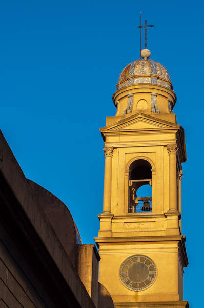 Montevideo Photograph - Beautiful Yellow Church Steeple by Jess Kraft