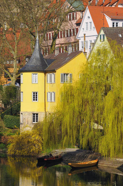 Photograph - Beautiful Yellow Hoelderlin Tower In Tuebingen by Matthias Hauser