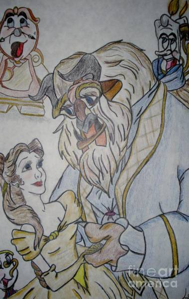 Clock Face Painting - Beauty And The Beast by Lori  Lovetere
