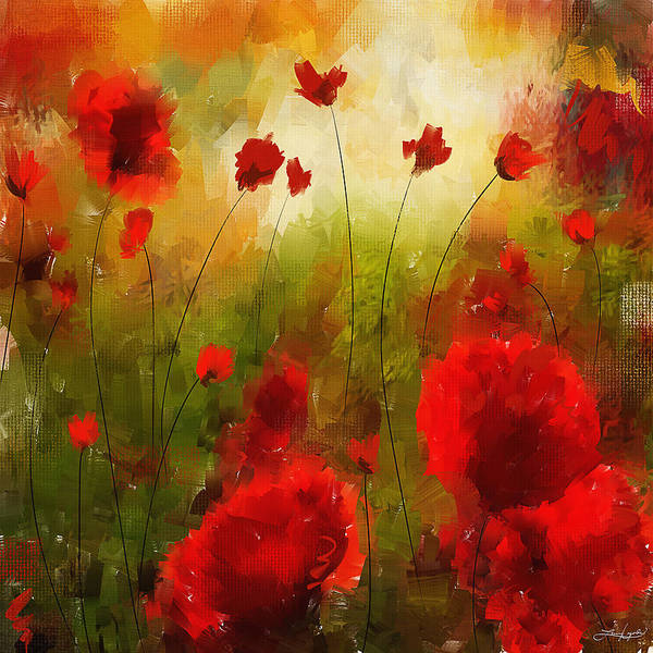 Remembrance Painting - Beauty In Bloom by Lourry Legarde