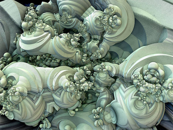 Digital Art - Beauty In Green Sandstone by Jeff Iverson
