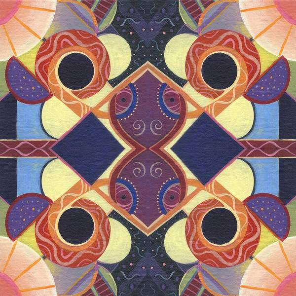 Painting - Beauty In Symmetry 1 - The Joy Of Design X X Arrangement by Helena Tiainen