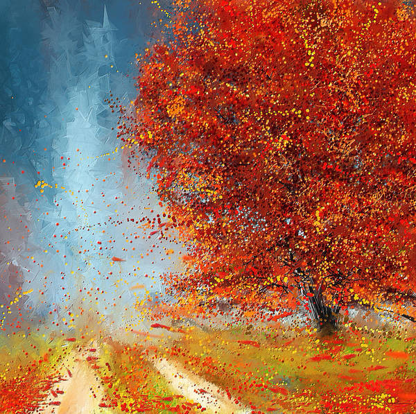 Painting - Beauty Of It- Autumn Impressionism by Lourry Legarde