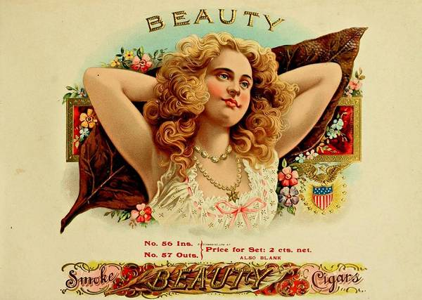 Painting - Beauty Vintage Cigar Advertisement  by Movie Poster Prints