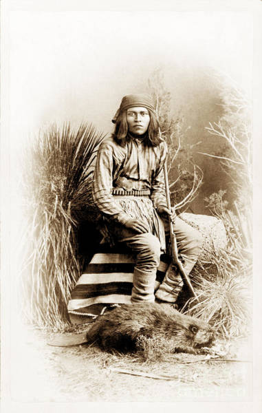Photograph - Beaver Hunter - American Indian by Paul W Faust -  Impressions of Light