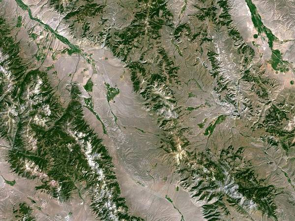 North Idaho Photograph - Beaverhead Crater by Planetobserver/science Photo Library