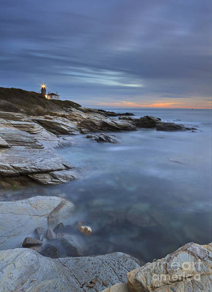 Wall Art - Photograph - Beavertail Lighthouse Seascape by Katherine Gendreau
