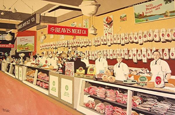 Beavis Meat In The Public Market Art Print by Paul Guyer