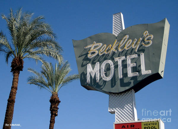 60s Wall Art - Digital Art - Beckley's Motel Cathedral City by Jim Zahniser
