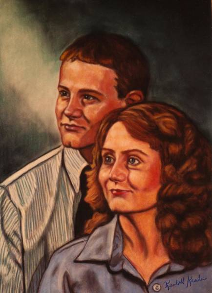 Painting - Becky And Ron Yearout by Kendall Kessler