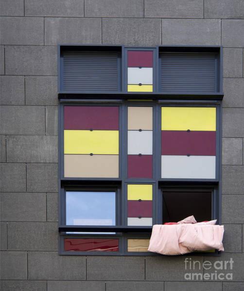 Wall Art - Photograph - Bed Sheet In A Building Window. by Bernard Jaubert