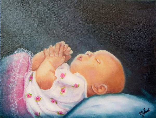 Painting - Bed Time Prayer by Joni McPherson