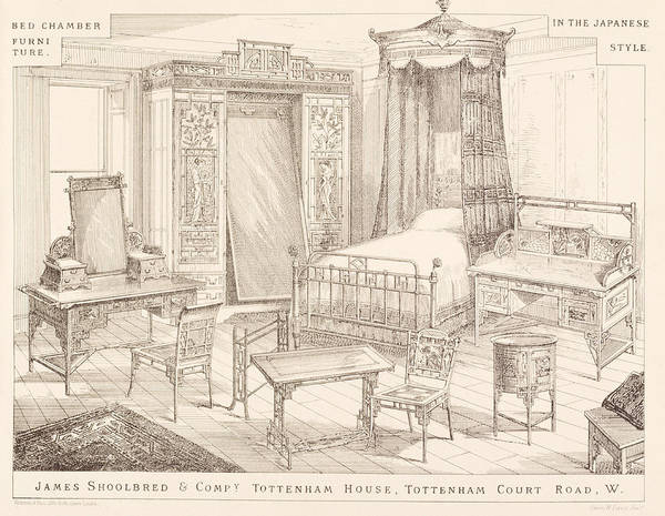 Dressing Painting - Bedchamber Furniture In The Japanese by