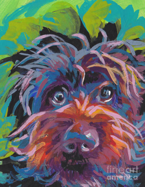 Pup Painting - Bedhead Griff by Lea S