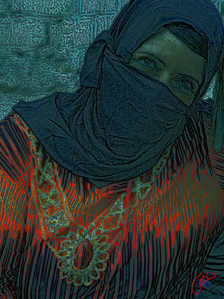 Photograph - Bedouin Lady  by Colette V Hera  Guggenheim